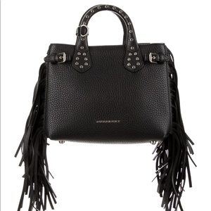 Burberry baby banner black with fringe western